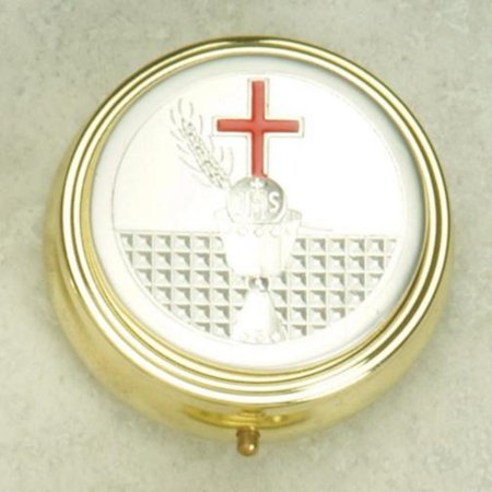 Holy Spirit Pyx with First Holy Communion Chalice Gold & Silver Plated