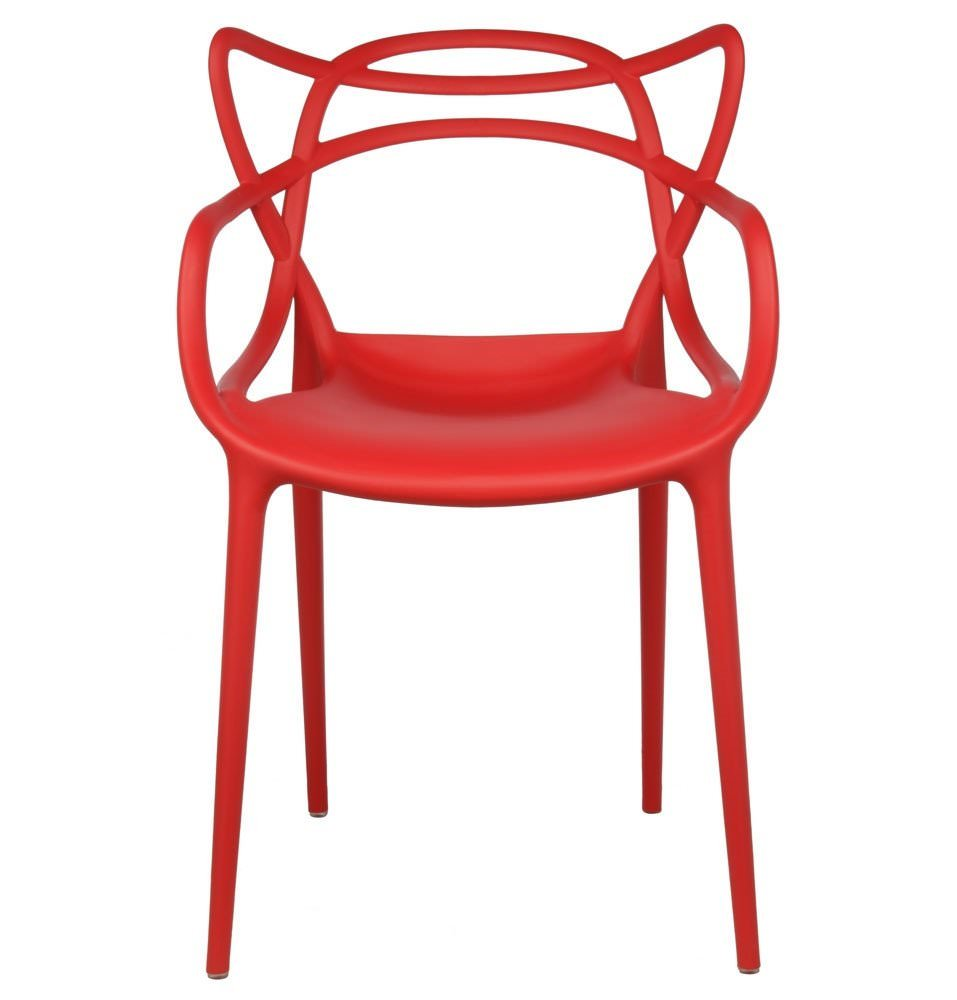 2xhome Red Stackable Contemporary Modern Designer Molded Plastic Chairs  Assembled With Arms Open Back Armchairs For Kitchen Dining Chair Outdoor  Patio ...