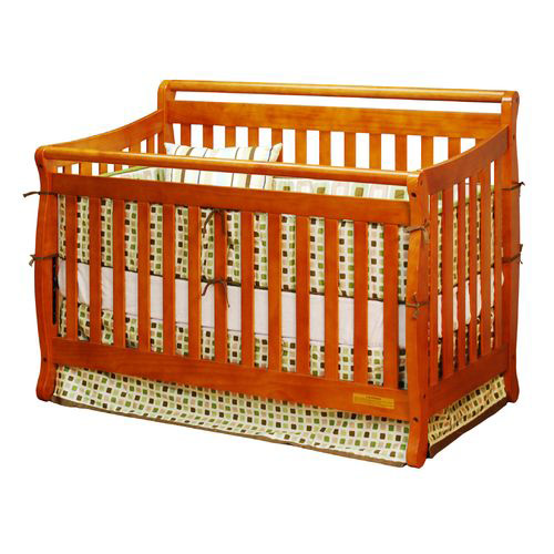 Amy Convertible Crib w/ Toddler Rail - Pecan