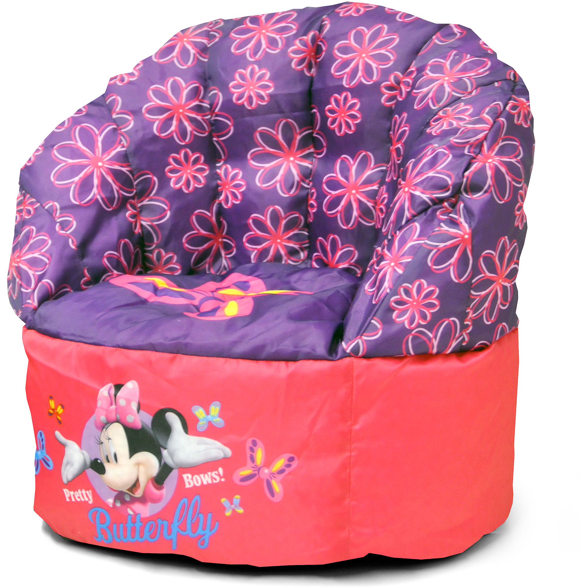 Bean Bag Chairs For Kids Purple disney minnie mouse bean bag chair - walmart