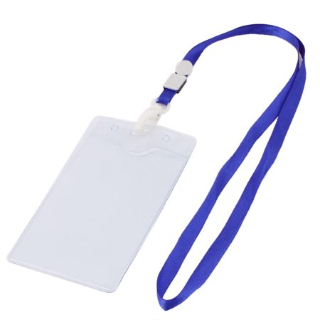 Plastic Horizontal ID Name Work   Exhibition Badge Card Holder Blue - image 2 of 2