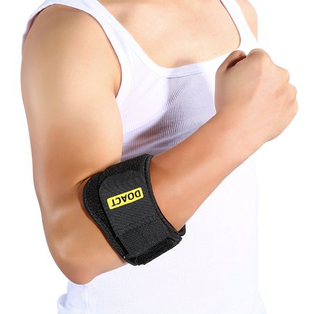 Comfortable Adjustable Elbow Support Band Wrap Neoprene Forearm Brace with Compression Pads Elbow Protector for Golfer Tendonitis Muscle Tissue Joint Pain Relif for Men Women