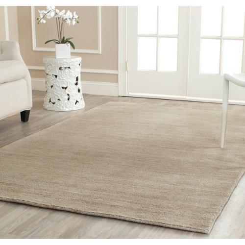 Safavieh Handmade Himalaya Solid Grey Wool Area Rug 6 X 9