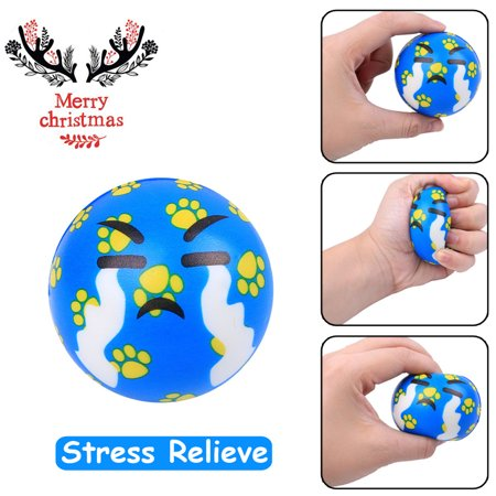 Smart Novelty Lovely Christmas Present Cry Ball Elasticity Rising Kids Squeeze Toys