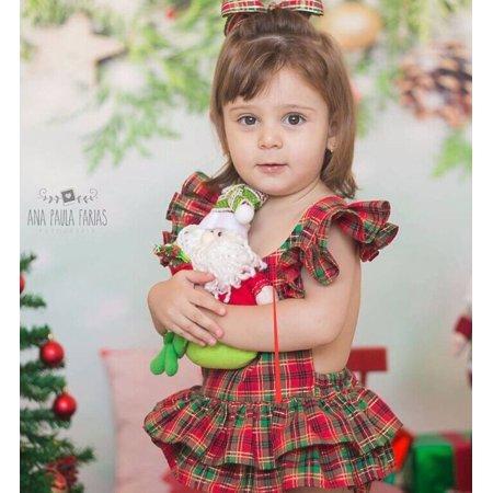 Newborn Infant Baby Girl Ruffle Sleeveless Romper Dress Bodysuit Handband 2pcs - image 4 of 5