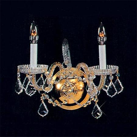 Eurofase Lighting Crystal Sconce - 2 Light Crystal Wall Sconce - gold-48042-2HB