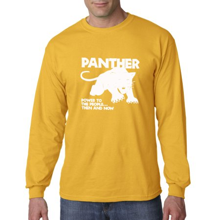 da5fea7fabffaf allwitty - 1092 - Unisex Long-Sleeve T-Shirt Black Panthers Power To People  - Walmart.com