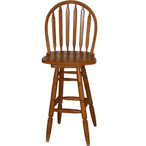 "Swivel Bar Chair arrowback windsor swivel bar stool 30"", multiple finishes"