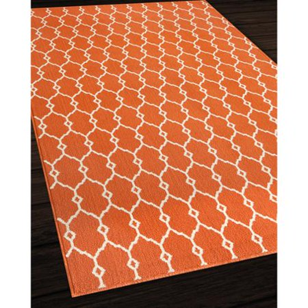 Momeni Indoor/Outdoor Orange Trellis Rug (5'3 x 7'6 ... - photo#26