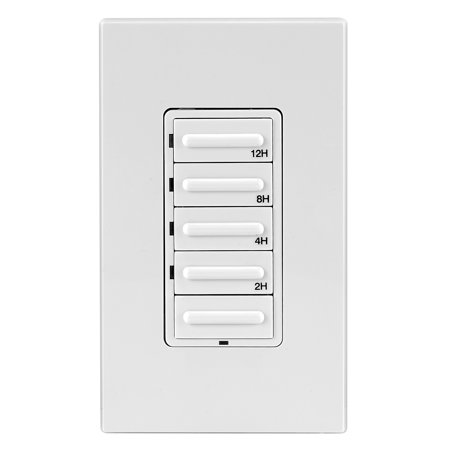 Leviton 001-LTB12-1LZ 20A 120V White/Ivory/Light Almond Decora Preset 12 Hour Countdown Timer