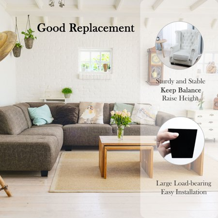 """3.1"""" Solid Wood Furniture Leg Square Tapered Sofa Bench Feet Replacement 2pcs - image 3 de 7"""