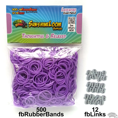 Friendly Bands Sunshine Bands Pack, Lavender