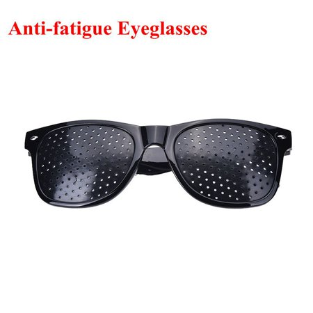 Anti-fatigue Stenopeic Eyeglasses Vision Care Eyesight Improver Pinhole Glasses(Black)](Funny Eyeglasses)