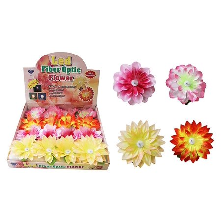 Diamond Visions 08-1248 Fiber Optic Light Up Flowers MultiPack in Assorted Colors (2 - Fiber Flowers