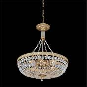 Image of Allegri by Kalco Lighting 025850-010-FR001 Aulio 8 Light Round Pendant with Fire