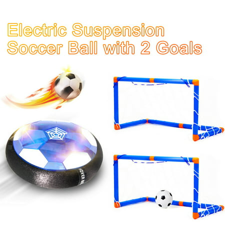 Hover Soccer Ball Electric Suspension Soccer LED Suspension air Cushion Soccer with 2 Goals Indoor Outdoor Sports Toys for Kids Diadora Indoor Soccer