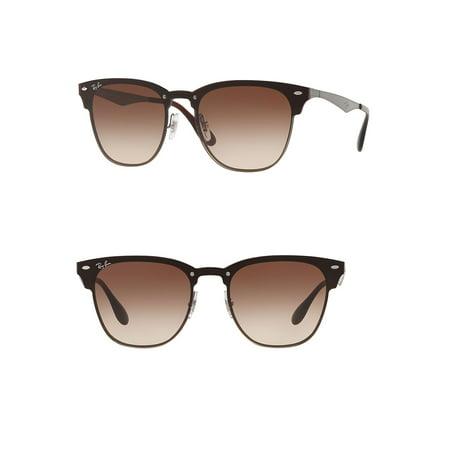Ray-Ban Unisex RB3576N Blaze Clubmaster Sunglasses, (Ray Ban Blaze Clubmaster Gold)