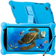 Kids Tablet with Educator Approved Apps ($150 Value), Contixo 2021 Edition, 7-inch IPS HD Display, WiFi, Android 10, 2GB RAM 16GB ROM, Protective Case with Kickstand and Stylus, V10-Blue