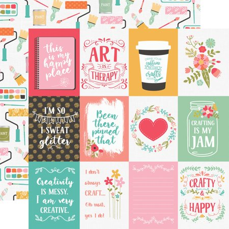 """I Heart Crafting Double-Sided Cardstock 12""""X12""""-3""""X4"""" Journaling Cards"""