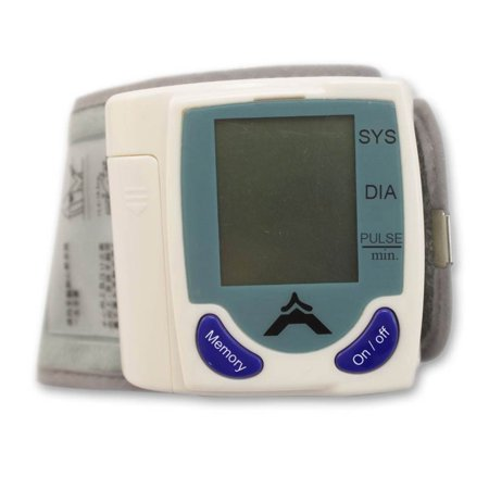 Zimtown 60 Memory Storage Wrist Cuff LCD Digital Blood Pressure Pulse Monitor](Wrist Cuffs)