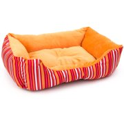 "ALEKO 20"" x 16"" x 6"" Soft Plush Pet Cushion Crate Bed for Cats and Dogs"