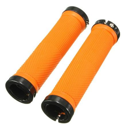 Thzy 1 Pair Bicycle Handle Grip Mtb Bmx Bike Handlebar Grips Orange