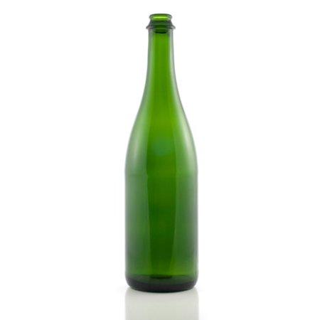 750 ML Green Champagne Bottles