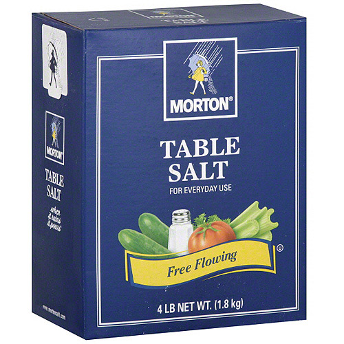 Morton Table Salt, 4 lb (Pack of 9)