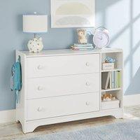 Better Homes & Gardens Cartwheel 3-Drawer Dresser, White