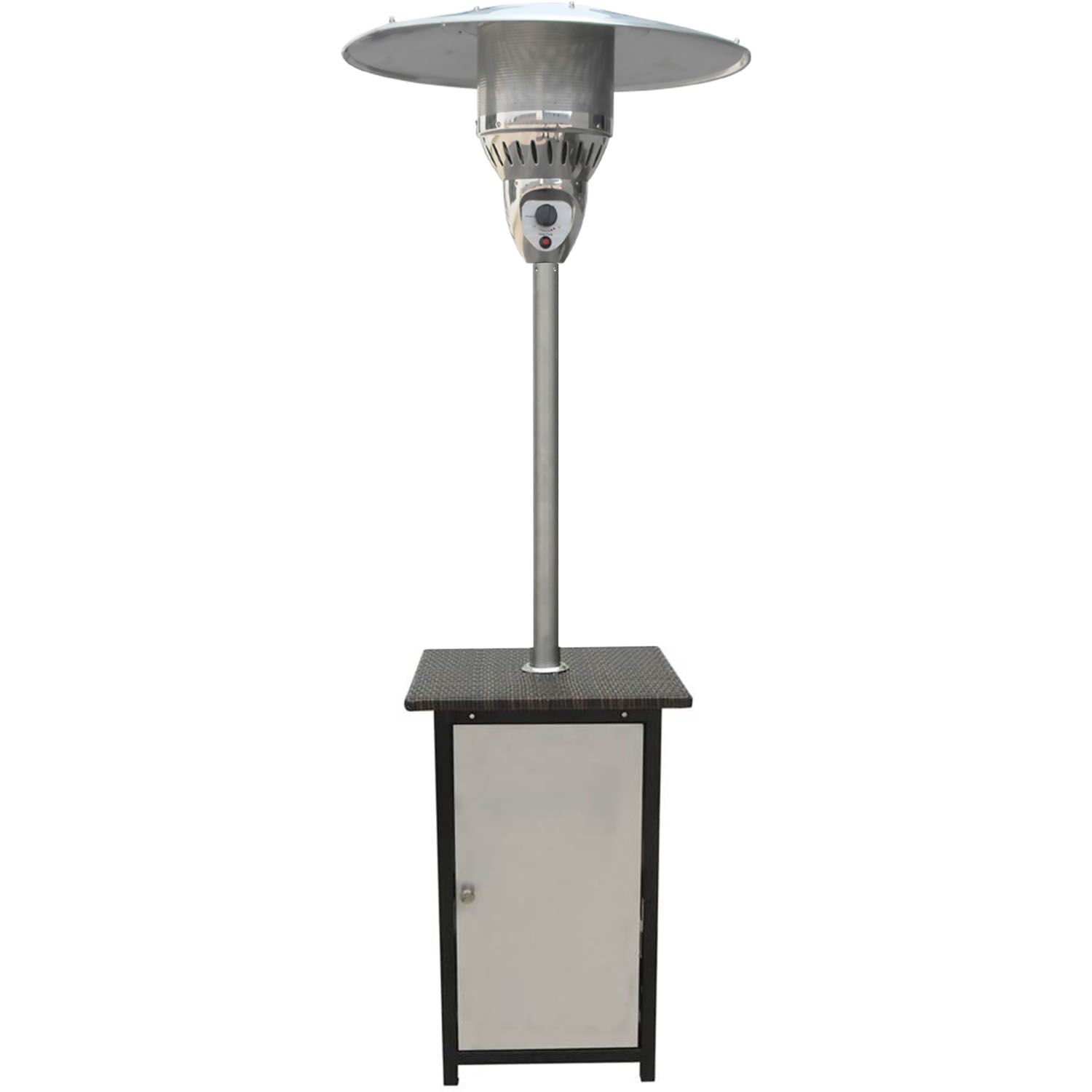 Hanover 7-Ft. 41,000 BTU Square Steel Patio Heater with Stainless Steel Finish by Hanover