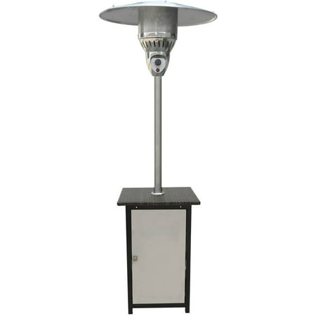Image of Hanover 7-Ft. 41,000 BTU Square Steel Patio Heater with Stainless Steel Finish
