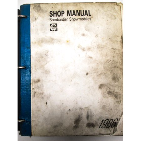 Bombardier Manuals6-2 Ski Doo 1986 Snowmobile Service Manual QTY 1
