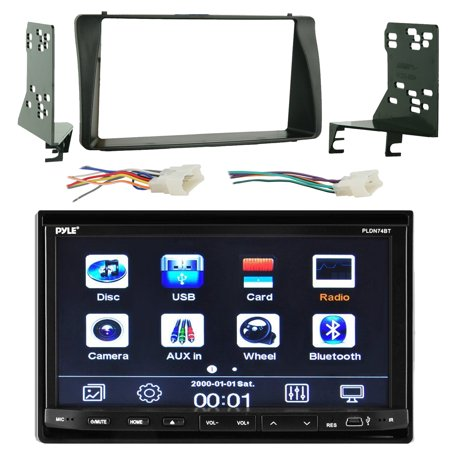 pyle pldn74bt 7 touch screen bluetooth cd dvd player stereo pyle pldn74bt 7 touch screen bluetooth cd dvd player stereo receiver bundle combo metra 2 din install dash kit wiring radio harness wireless
