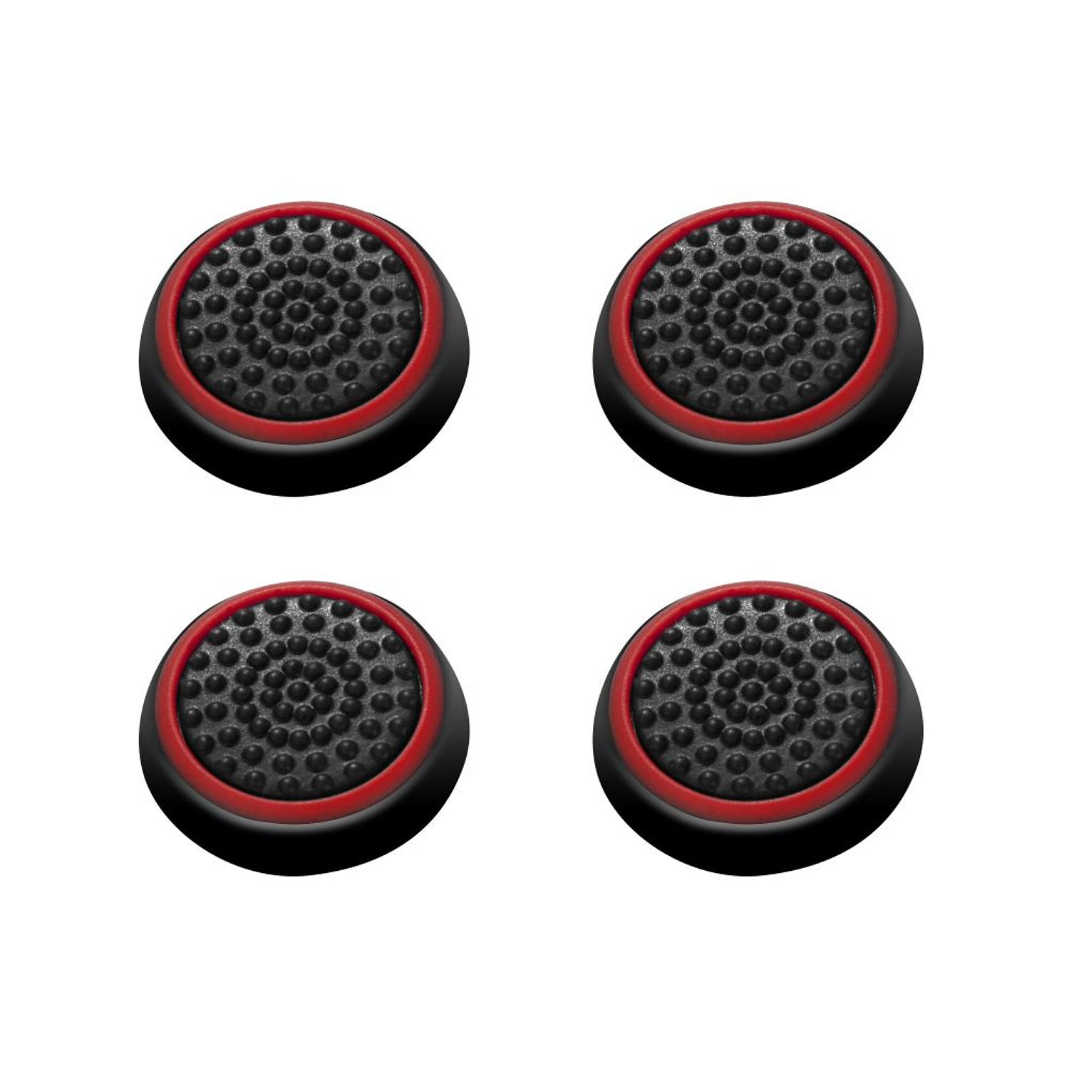 Insten 4pcs Black/Red Silicone Thumb Thumbstick Grips Analog Stick Cover Caps for Xbox 360 Xbox One PS4 PS3 PS2 Sony PlayStation 2 3 4 Controller