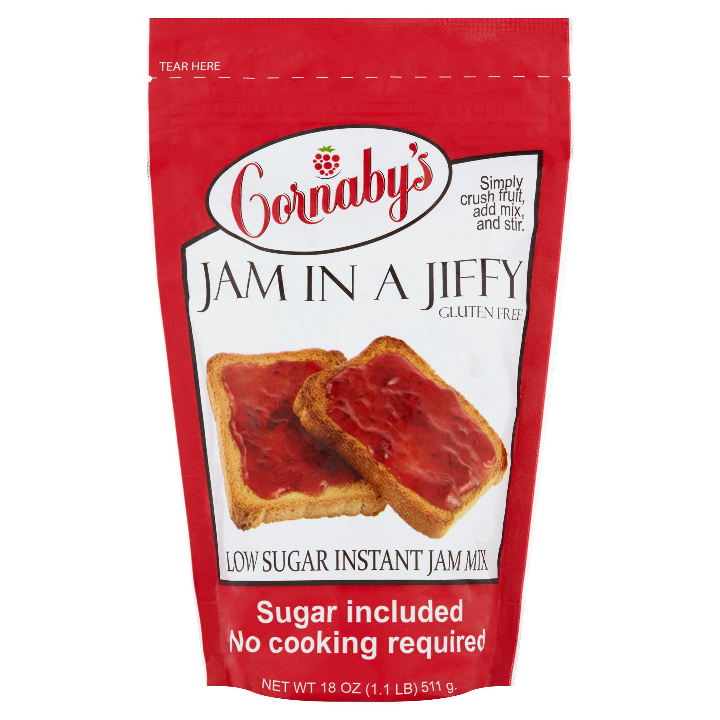 Cornaby's Jam in a Jiffy Low Sugar Instant Jam Mix, 18 oz by Cornaby's LLC