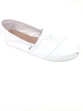9bf091dce0d Product Image Toms Mens Classic Canvas Slip On Casual Loafer Shoes white  size 9