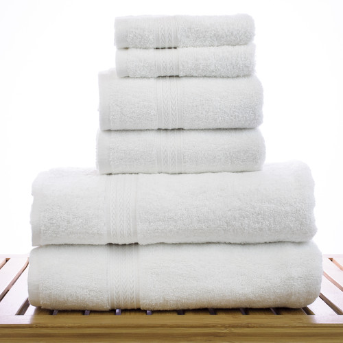 Bare Cotton Eco 6 Piece 100pct Cotton Towel Set