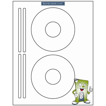 200 Blank Labels CD/DVD Labels for Avery Software Template 5931.  Bright White Matte Finish.  100 Sheets for Ink Jet & Laser Printer