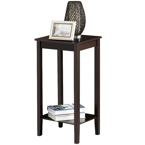 Easyfashion Small Rectangular Wood End, Tall Side Tables Living Room