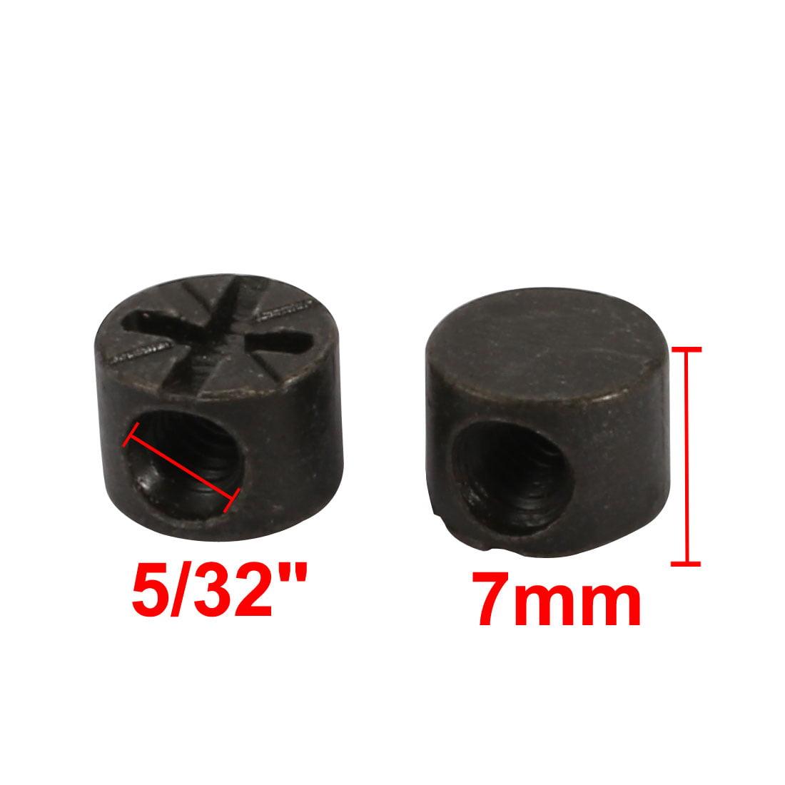 """Unique Bargains 20pcs 5/32"""" Thread 7mm Length Zinc Alloy Pozidriv Drive Cross Dowel Nut Black - image 2 de 4"""