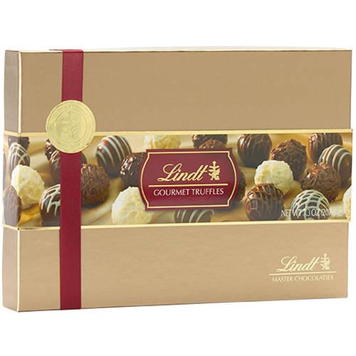 Lindt Lindor Chocolate Truffles Gourmet Gift Box, 7.3 oz - Walmart.com
