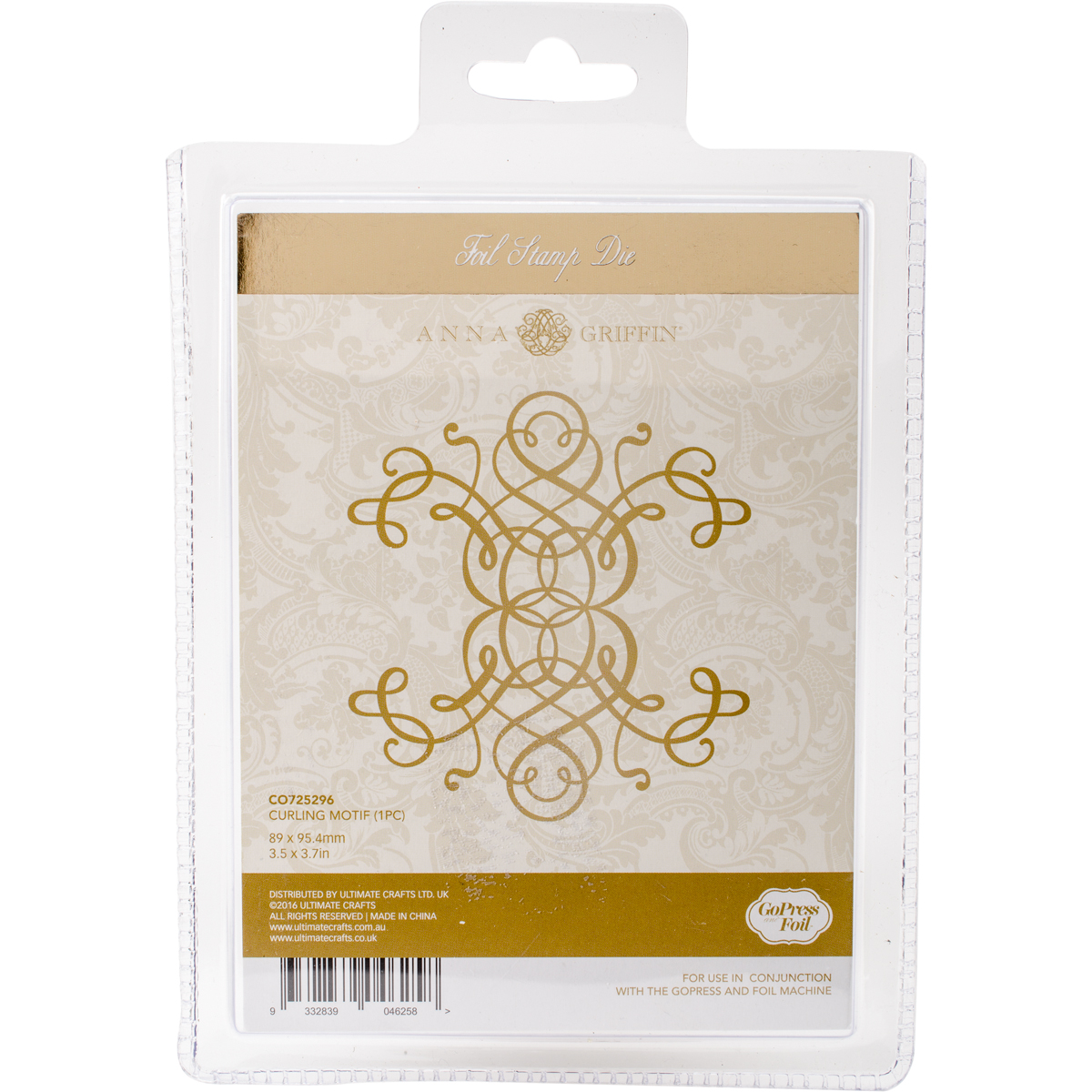 Couture Creations Anna Griffin Hotfoil Stamp-Curling Motif