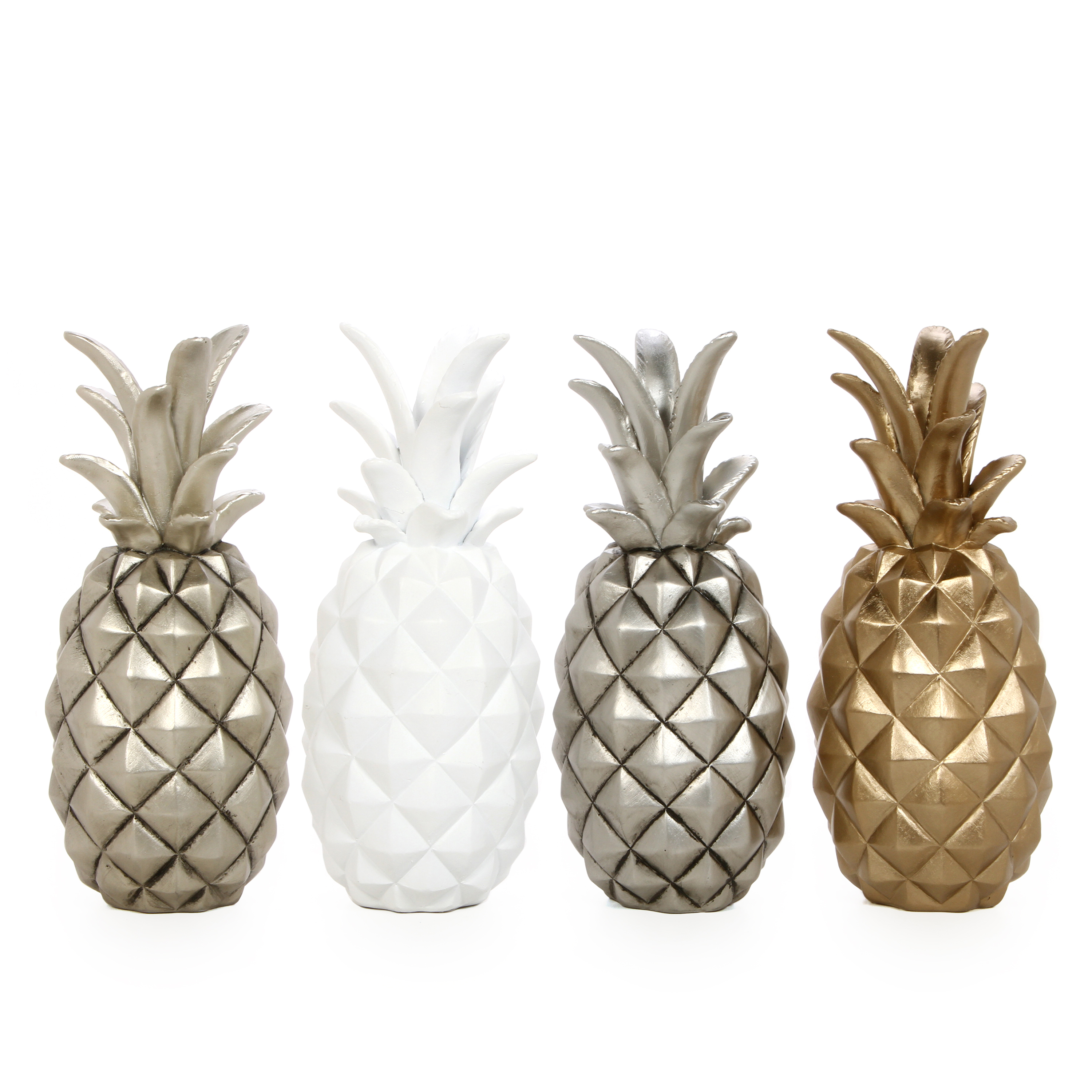 "Mainstays 12.5"" High Tabletop Resin Pineapples, Four Color Assortment"