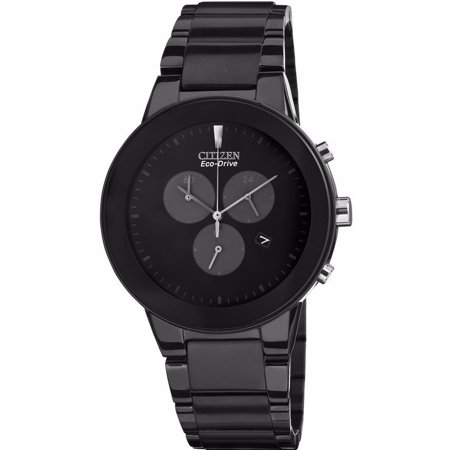 Axiom Eco-Drive Chronograph Black Dial Black Stainless Steel Watch AT2245-57E Eco Drive Blue Dial Watch