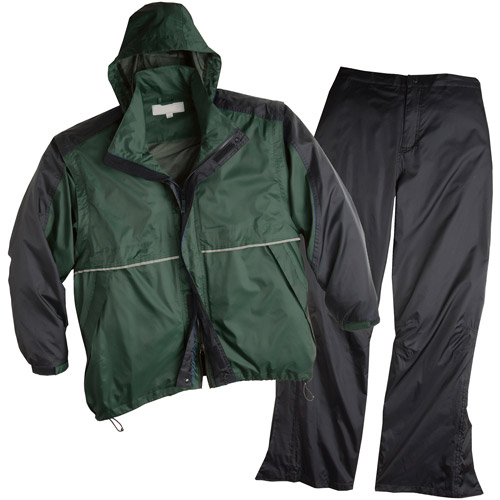 ShedRain Golf Rain Suit with Convertible Jacket, Hunter Green