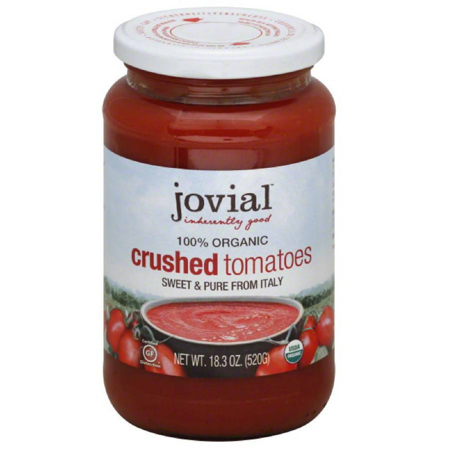 Jovial Tomatoes, Crushed, Organic, 18.3 Ounce (Pack of 3)