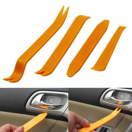 4pcs Auto Car Radio Door Clip Panel Trim Dash Audio Removal Installer Pry (Dash Panel Trim)