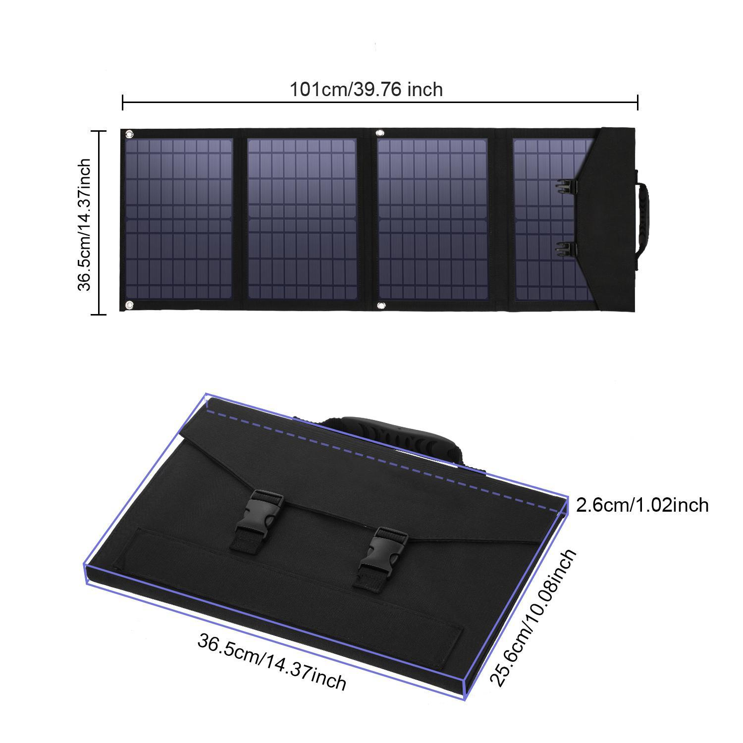 6 Panel Foldable Solar Charger with Dual QC3.0 USB Ports /& 18V DC Output for Portable Power Station Solar Generator for Cell Phone GoPro Laptop Tablet GPS iPad Camera 60W Portable Solar Panel