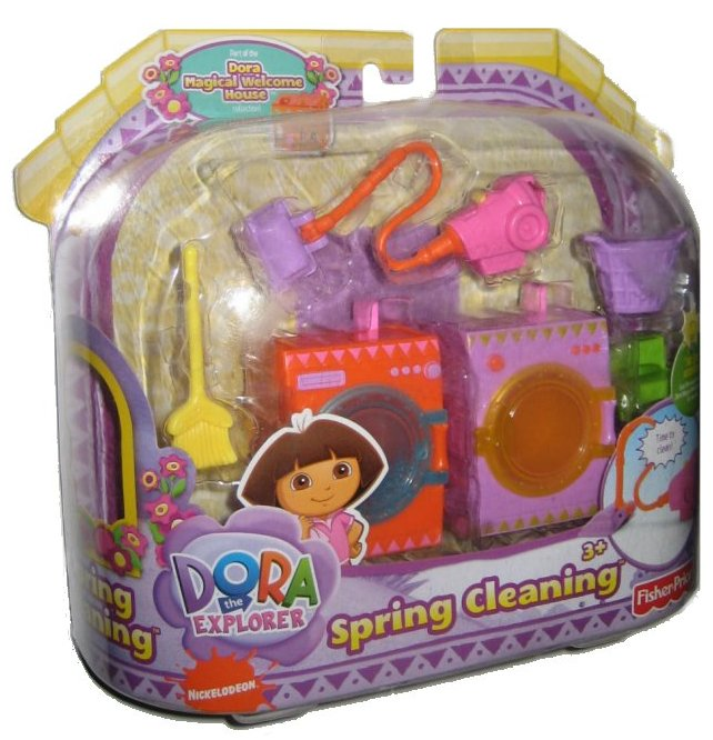 Dora The Explorer Magical Welcome House Spring Cleaning Toy Doll Play Set by FISHER PRICE