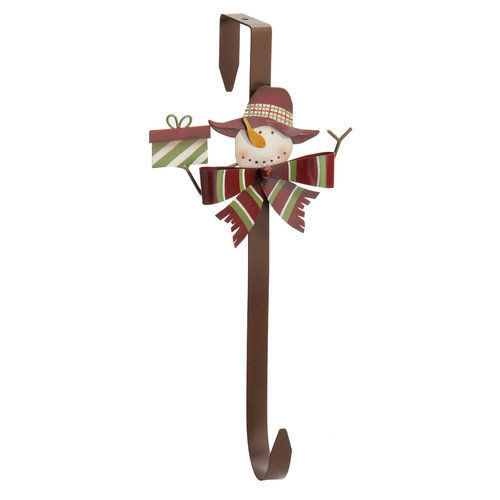October Hill Snowman & Gift Wreath Hook